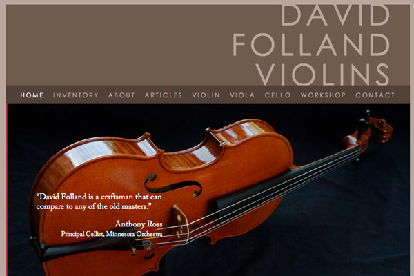 David Folland Violins screenshot