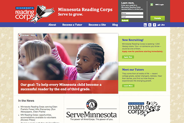 Minnesota Reading Corps screenshot